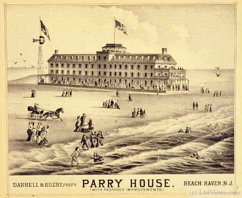 The Parry House in Beach Haven 1800's