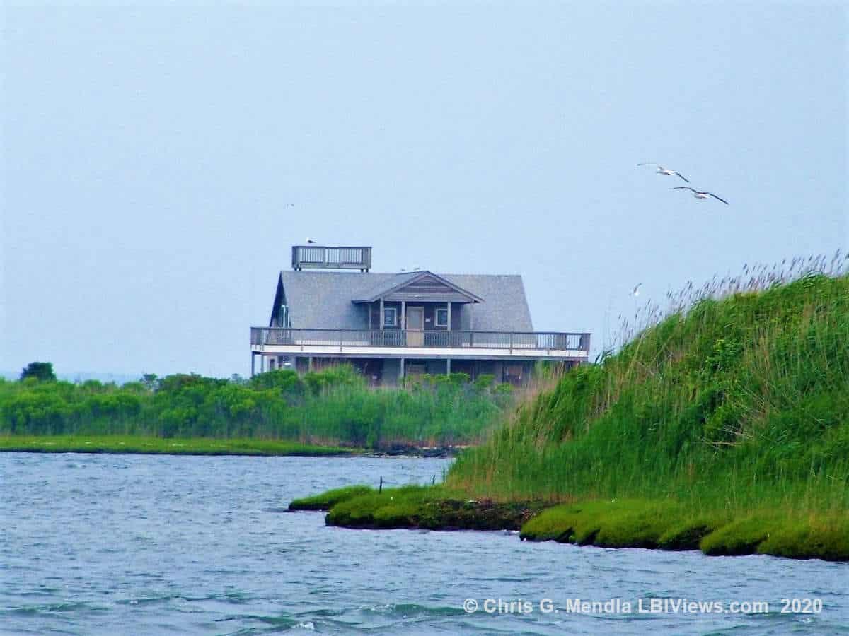 A House on a private island off Beach Haven, Long Beach Island